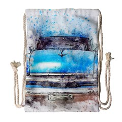 Car Old Car Art Abstract Drawstring Bag (large) by Celenk