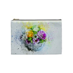 Flowers Vase Art Abstract Nature Cosmetic Bag (medium)