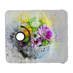 Flowers Vase Art Abstract Nature Galaxy S3 (flip/folio) by Celenk