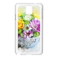 Flowers Vase Art Abstract Nature Samsung Galaxy Note 3 N9005 Case (white) by Celenk
