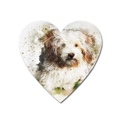 Dog Animal Pet Art Abstract Heart Magnet by Celenk