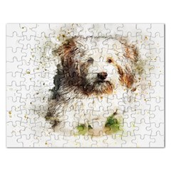 Dog Animal Pet Art Abstract Rectangular Jigsaw Puzzl by Celenk