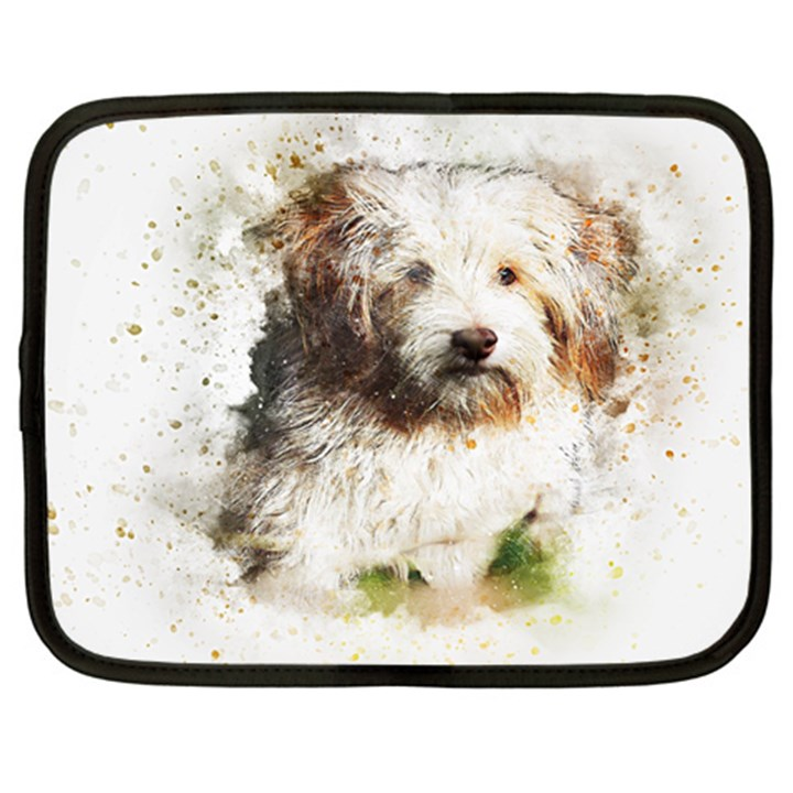 Dog Animal Pet Art Abstract Netbook Case (XXL)
