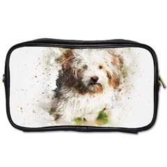 Dog Animal Pet Art Abstract Toiletries Bags 2 Side by Celenk