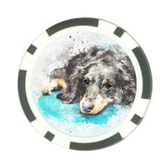 Dog Animal Art Abstract Watercolor Poker Chip Card Guard (10 Pack)