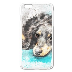 Dog Animal Art Abstract Watercolor Apple Iphone 6 Plus/6s Plus Enamel White Case by Celenk