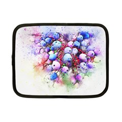 Berries Pink Blue Art Abstract Netbook Case (small)