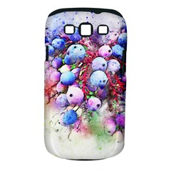 Berries Pink Blue Art Abstract Samsung Galaxy S Iii Classic Hardshell Case (pc+silicone) by Celenk