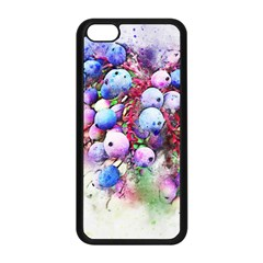 Berries Pink Blue Art Abstract Apple Iphone 5c Seamless Case (black)