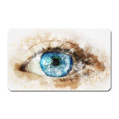 Eye Blue Girl Art Abstract Magnet (rectangular)