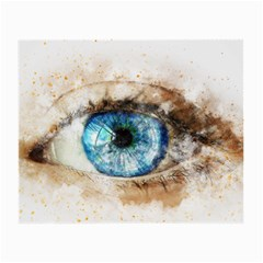 Eye Blue Girl Art Abstract Small Glasses Cloth (2 Side)