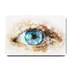 Eye Blue Girl Art Abstract Small Doormat