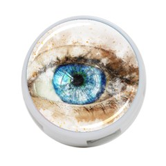 Eye Blue Girl Art Abstract 4 Port Usb Hub (two Sides)