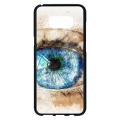 Eye Blue Girl Art Abstract Samsung Galaxy S8 Plus Black Seamless Case