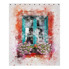 Window Flowers Nature Art Abstract Shower Curtain 60  X 72  (medium)