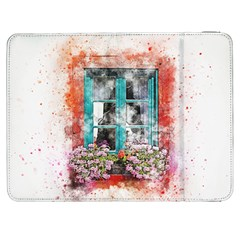 Window Flowers Nature Art Abstract Samsung Galaxy Tab 7  P1000 Flip Case by Celenk
