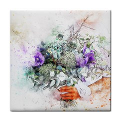 Flowers Bouquet Art Abstract Tile Coasters