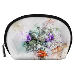 Flowers Bouquet Art Abstract Accessory Pouches (large)  by Celenk