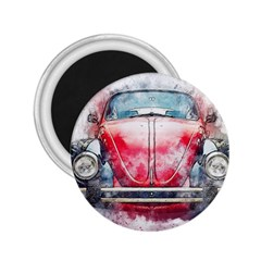 Red Car Old Car Art Abstract 2 25  Magnets by Celenk