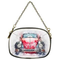 Red Car Old Car Art Abstract Chain Purses (one Side)