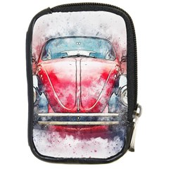 Red Car Old Car Art Abstract Compact Camera Cases