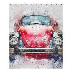 Red Car Old Car Art Abstract Shower Curtain 60  X 72  (medium)  by Celenk