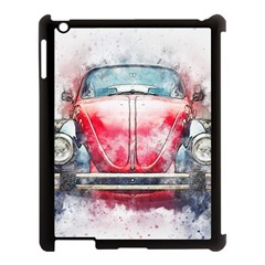 Red Car Old Car Art Abstract Apple Ipad 3/4 Case (black) by Celenk