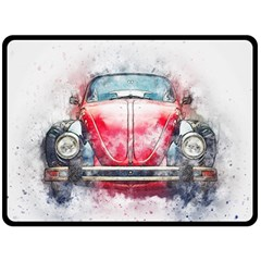 Red Car Old Car Art Abstract Double Sided Fleece Blanket (large)  by Celenk