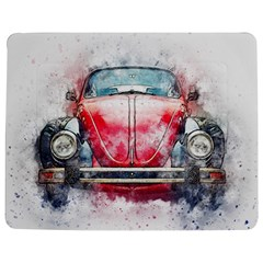 Red Car Old Car Art Abstract Jigsaw Puzzle Photo Stand (rectangular) by Celenk