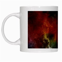 Abstract Picture Pattern Galaxy White Mugs