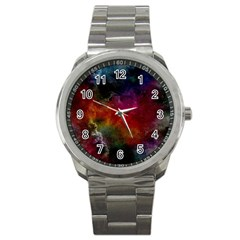 Abstract Picture Pattern Galaxy Sport Metal Watch