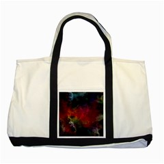 Abstract Picture Pattern Galaxy Two Tone Tote Bag