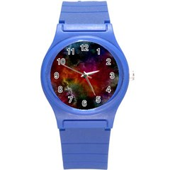 Abstract Picture Pattern Galaxy Round Plastic Sport Watch (s) by Celenk
