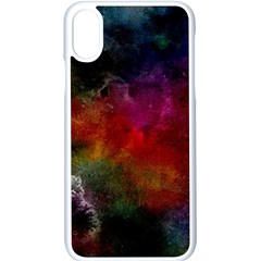 Abstract Picture Pattern Galaxy Apple Iphone X Seamless Case (white)