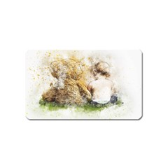 Bear Baby Sitting Art Abstract Magnet (name Card) by Celenk