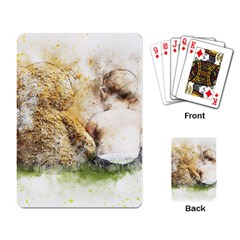 Bear Baby Sitting Art Abstract Playing Card by Celenk