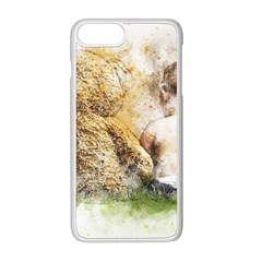 Bear Baby Sitting Art Abstract Apple Iphone 8 Plus Seamless Case (white) by Celenk