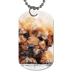 Dog Puppy Animal Art Abstract Dog Tag (one Side) by Celenk