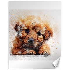 Dog Puppy Animal Art Abstract Canvas 12  X 16