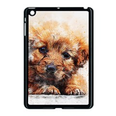 Dog Puppy Animal Art Abstract Apple Ipad Mini Case (black)
