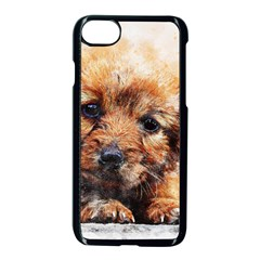 Dog Puppy Animal Art Abstract Apple Iphone 8 Seamless Case (black) by Celenk