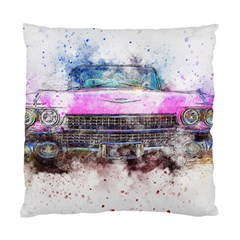 Pink Car Old Art Abstract Standard Cushion Case (two Sides) by Celenk