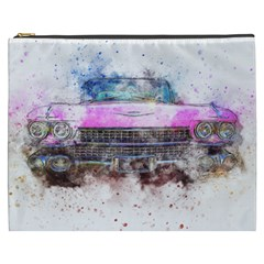 Pink Car Old Art Abstract Cosmetic Bag (xxxl)  by Celenk