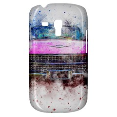 Pink Car Old Art Abstract Galaxy S3 Mini by Celenk