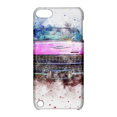 Pink Car Old Art Abstract Apple Ipod Touch 5 Hardshell Case With Stand by Celenk