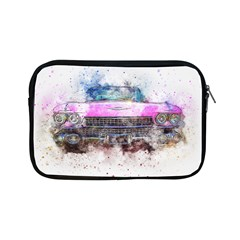 Pink Car Old Art Abstract Apple Ipad Mini Zipper Cases by Celenk