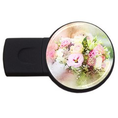 Flowers Bouquet Art Abstract Usb Flash Drive Round (4 Gb)