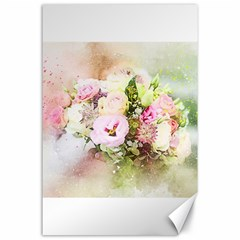 Flowers Bouquet Art Abstract Canvas 24  X 36