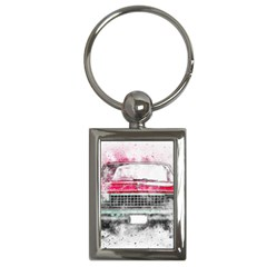 Car Old Car Art Abstract Key Chains (rectangle)