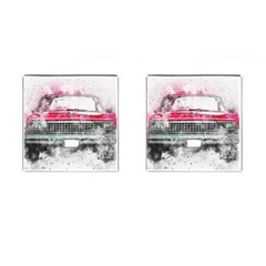 Car Old Car Art Abstract Cufflinks (square)